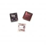 3 x Spinell aus Burma / Myanmar Quadrat facettiert ca. 5,4/ 6,2  mm / ca. 3,20 ct. Gesamtgewicht