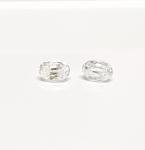 2 x Zirkon weiß oval facettiert ca. 6 x 4 mm / ca. 0,7-0,9 ct. Gesamtgwicht