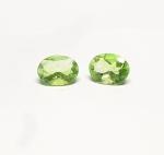 Fluorit grün oval facettiert ca. 8 x 6 mm / ca. 1,4 ct. Gesamtgwicht