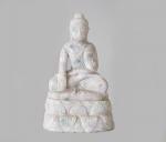 Buddha Statue aus Jade ( Jadeit ) / aus Myanmar - ca. 1,65 Kg ca. 18 x 11 cm