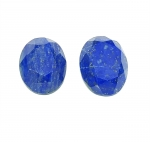 2 x Lapislazuli oval facettiert ca. 27 x 20 mm