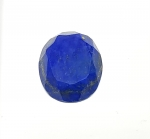Lapislazuli oval facettiert ca. 27 x 22 mm
