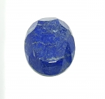 Lapislazuli oval facettiert ca. 35 x 28 mm