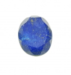 Lapislazuli oval facettiert ca. 40 x 35 mm