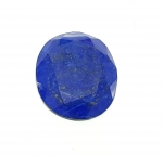 Lapislazuli oval facettiert ca. 39 x 30 mm