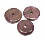 Rubin - Donut aus indischer Produktion ca. 30-35 mm