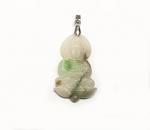 Jadeit Buddha Anhänger an Öse ca. 52 x 22 mm - Einzelstück