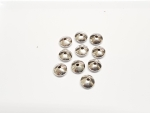 10 x Linsen gewölbt Zwischenteil aus 925 Silber ca. 8,2 x 3,6 mm / Bohrung: ca. 1,4 mm
