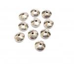 20 x Linsen gewölbt Zwischenteil aus 925 Silber ca. 6,0 x 3,6 mm / Bohrung: ca. 1,4 mm