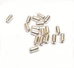 20 x Röhre gewölbt Zwischenteil aus 925 Silber ca. 7,0 x 3,5 mm / Bohrung: ca. 1,4 mm
