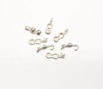 20 x Klapp - Kapseln mit Klappöse aus 925 Silber für Halsketten