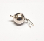 Kugelschliesse in 925 Silber - ca. 18 mm
