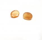 2 x Mondstein - oval facettiert ca. 8 x 6 mm / ca. 1,4 ct. Gesamtgewicht