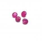 Rubin aus Burma / Myanmar rund facettiert ca. 4-5 mm