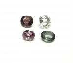 4 x Spinell aus Burma / Myanmar oval facettiert ca. 6,1-6,7 x 6,6-7,6 mm / ca. 5,85 ct. Gesamtgewicht