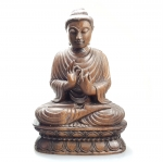 Buddha Statue Ebenholzschnitzerei aus Myanmar - Burma - ca. 2,5 Kg / ca. 29 x 20 cm
