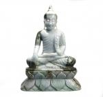 Buddha Statue aus Jade ( Jadeit ) / Myanmar - Burma - ca. 3,1 Kg ca. 25 x 18 cm - Unikat