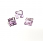 Amethyst Viereck facettiert ca. 8 x 8 mm