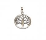 Baum des Lebens Anhänger aus 925 Silber Gr. M / ca. 29x20 mm