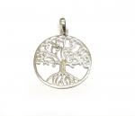 Baum des Lebens Anhänger aus 925 Silber Gr. L / ca. 31x22 mm