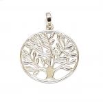 Baum des Lebens Anhänger aus 925 Silber Gr. XL / ca. 35x26 mm