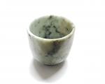 Tasse aus Jadeit / Jade handgraviert ca. 56 x 66 mm