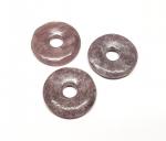 3er Set Lepidolith Donut Anhänger 30 mm