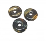3er Set 30 mm Falkenauge Donut Anhänger