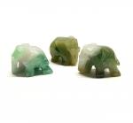 3er Set mini Elefant aus burmesischem Jadeit ( Jade ) ca. 27 x 20 mm