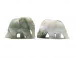 3er Set Elefant aus Jade ( Jadeit ) Größe M ca. 35 x 25 mm