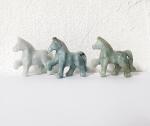 Pferde Gravur aus Jadeit ( Jade ) ca. 47 x 42 mm
