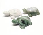 Schildkröte in Top Polierung aus burmesischem Jadeit ( Jade ) ca. 55 x 44 mm