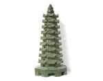 Turm chinesisch aus Serpentin 175 x 80 mm ca. 620 Gramm