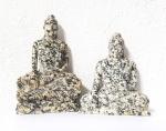 Buddha Gravur aus Dalmatinerjaspis ca. 70 bis 110 mm