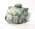 Topf - Gravur aus Jadeit - Jade ca. 115 x 75 x 100 mm 950 gr.