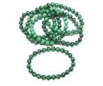 Malachit Kugelarmband A-Qualität ca. 8 mm / ca. 19-20 cm
