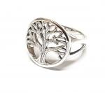 Fingerring Baum des Lebens aus 925 Silber RUND