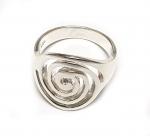 Fingerring Spirale aus 925 Silber