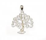 Baum des Lebens Anhänger filigran aus 925 Silber ca. 27x20 mm
