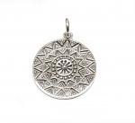Sonnen Anhänger Mandala aus 925 Silber ca. 32x24 mm