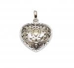Herz verziert Anhänger aus 925 Silber ca. 26x20 mm