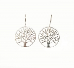 Baum des Lebens Ohrhänger aus 925 Silber ca. 28 x 18 mm