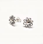 Ohrstecker Blume aus 925 Silber ca. 10 mm