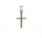 Kreuz klassisch Anhänger aus 925 Silber ca. 27 x 11 mm