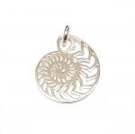 Anhänger Ammonit aus 925 Silber ca. 30 x 23 mm