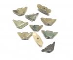 5er Set chinesisches Geld Anhänger aus Jadeit ( Jade ) ca. 25-30 mm
