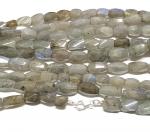 Labradorit Halskette facettiert ca. 8-10 mm / ca. 45 cm mit 925er Silberkarabiner