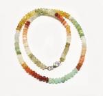 Opal Mix Buttonkette ca. 5 mm / ca. 45 cm mit 925 Silberkarabiner