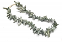 Perlmuttkette grau Freiform farbbehandelt ca. 20 - 35 mm / ca, 45 cm