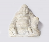 Buddha Statue aus Jade ( Jadeit ) / Myanmar - Burma - ca. 100 x 90 mm ca. 1300 Gramm